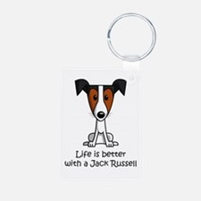 SS_Life-is-better-with-a-Jack-Russell Keychains