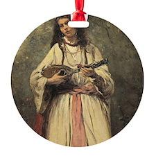 Baptiste Camille Corot, Gypsy Girl  Ornament