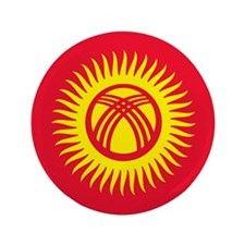 """Flag of Kyrgyzstan 3.5"""" Button (100 pack)"""
