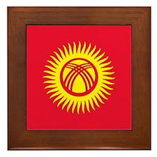 Flag of Kyrgyzstan Framed Tile