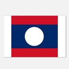Flag of Laos Postcards (Package of 8)