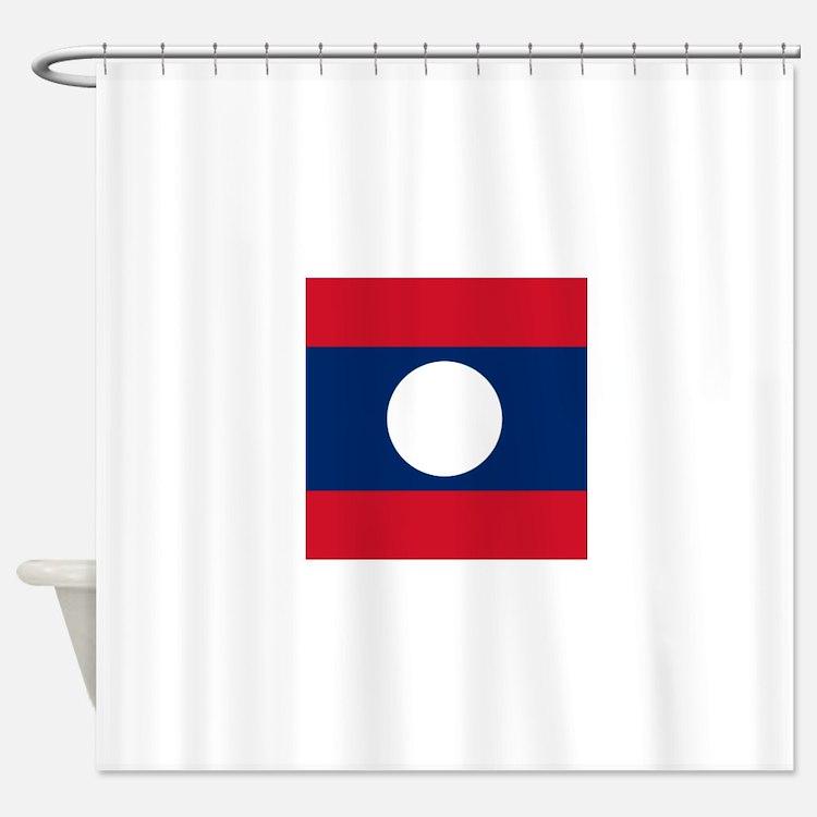 Flag of Laos Shower Curtain