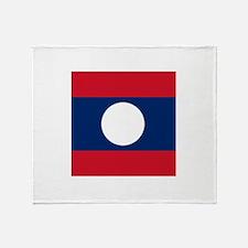 Flag of Laos Throw Blanket
