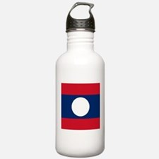 Flag of Laos Sports Water Bottle