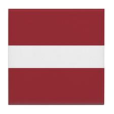 Flag of Latvia Tile Coaster