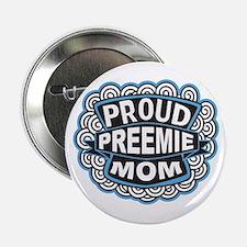 Proud Preemie mom blue Button