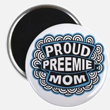 Proud Preemie mom blue Magnet