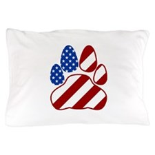 Patriotic Paw Flag Pillow Case