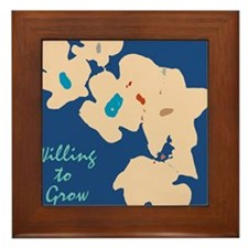 willing to Grow Floral Framed Tile