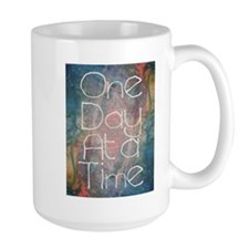 One Day at a Time Abstract Art Mugs