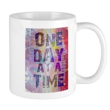 One Day at a Time Abstract Paint Colors Mugs