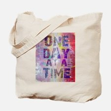 One Day at a Time Abstract Paint Colors Tote Bag
