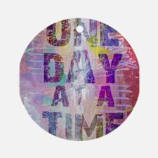 One Day at a Time Abstract Paint Colors Ornament (