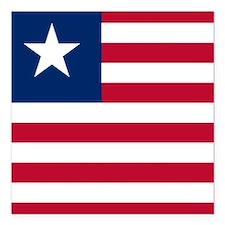 "Flag of Liberia Square Car Magnet 3"" x 3"""