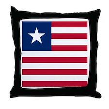 Flag of Liberia Throw Pillow