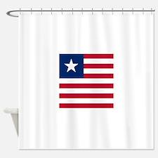 Flag of Liberia Shower Curtain