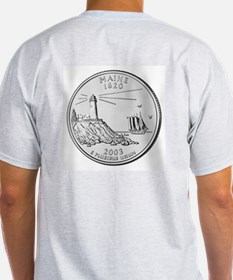 Maine State Quarter Ash Grey T-Shirt