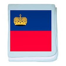 Flag of Liechtenstein baby blanket