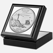 Maine State Quarter Keepsake Box