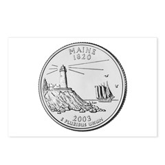 Maine State Quarter Postcards (8)