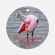 Roseate Spoonbill Ornament (Round)