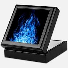 Blue Flames Keepsake Box