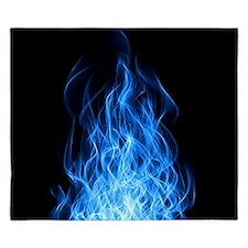 Blue Flames King Duvet