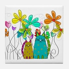 Spring Flowers 14 Tile Coaster