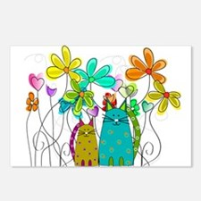 Spring Flowers 14 Postcards (Package of 8)