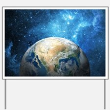 Planet Earth Yard Sign