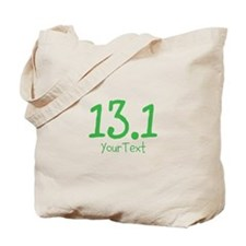 Custom GREEN 13.1 Optional Text Tote Bag