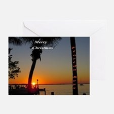 Florida Keys sunset Greeting Cards