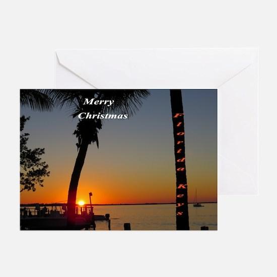 Florida Keys sunset Greeting Cards