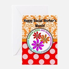 Happy Social worker month 4 Greeting Cards