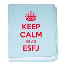 Keep Calm Im An ESFJ baby blanket