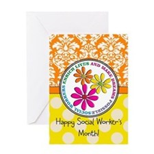 Happy Social worker month 3 Greeting Cards