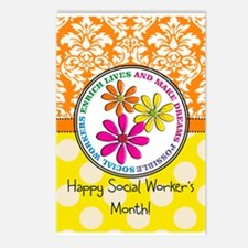 Happy Social worker month 3 Postcards (Package of