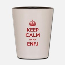 Keep Calm Im An ENFJ Shot Glass