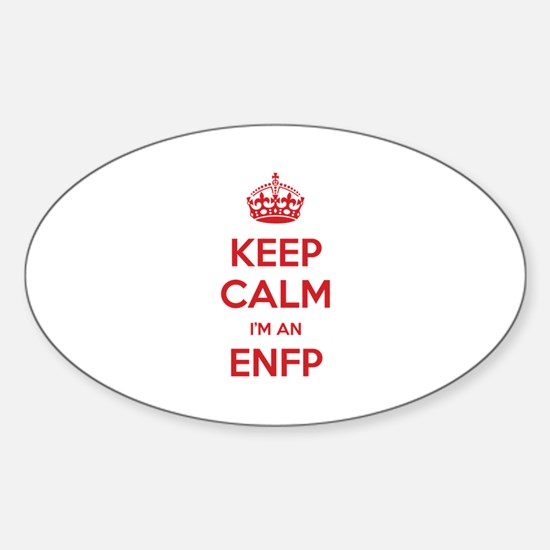 Keep Calm I'm An ENFP Oval Decal