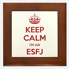 Keep Calm I'm An ESFJ Framed Tile