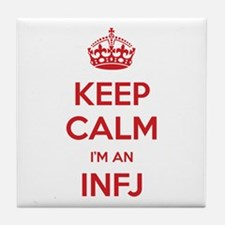 Keep Calm I'm An INFJ Tile Coaster