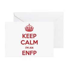 Keep Calm I'm An ENFP Greeting Card 20 Pack