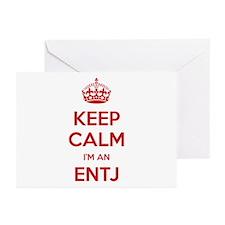 Keep Calm I'm An ENTJ Greeting Card 10 Pack