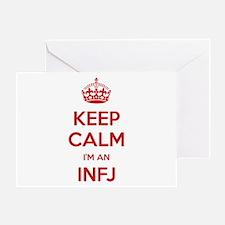 Keep Calm I'm An INFJ Greeting Card