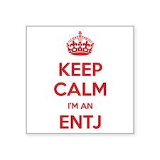 Keep Calm I'm An ENTJ Square Sticker