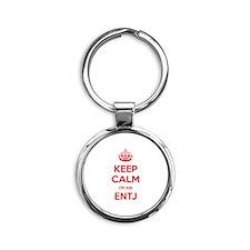 Keep Calm I'm An ENTJ Round Keychain