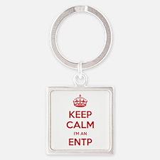 Keep Calm I'm An ENTP Square Keychain