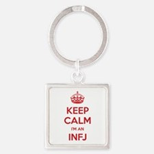 Keep Calm I'm An INFJ Square Keychain