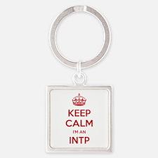 Keep Calm I'm An INTP Square Keychain