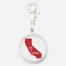 Made in California Silver Round Charm